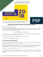 Tendencias de Diseño Gráfico en Bolivia Para El 2018