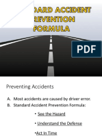 Standard Accident Prevention Formula