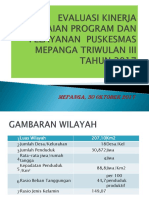 Evaluasi Puskesmas Mepanga -Tw III