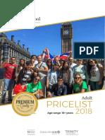 Adult Price List 2018