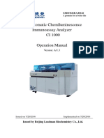 CI1000全自动化学发光免疫分析仪用户操作手册(封皮)-英文版