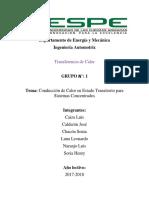Informe de la práctica de Duración de ciclos, Calibración de válvulas y Purgado
