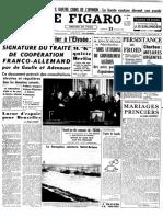 Le Figaro du 23 janvier 1963