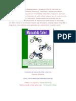 Kawasaki KLX 650 R Manual de Taller y Servicio