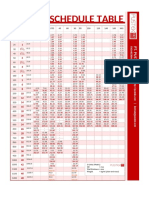 Pipe Schedule Table - PT. PUSTEK