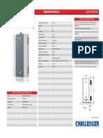 Especificaciones Calentador a gas Challenger