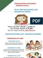 Foro sin video 2017 VIOLENCIA DE GÉNERO POWERPOINT