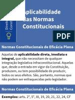 Aplicabilidade Das Normas Constitucionais I