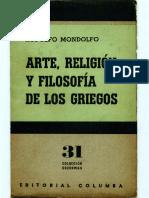 (Mia) Mondolfo Arte Reloigion y Filosofia de Los Griegos OCR