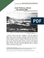 Historic Monterrey Mexico Devastated 1909