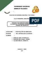 Estudio de Posicionamiento de La Funeraria Ramirez en La Ciudad de Huanuco