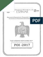 Plan Operativo Institucional 2017