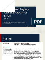 Unicode and Legacy Representation of Emoji