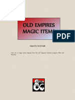 Old Empires Magic Items