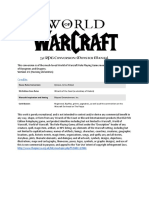 World of Warcraft 5e RPG Core Document | Races And Factions