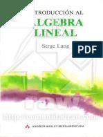 Algebra-Lineal - Serge Lang