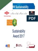 DOW Sustainability Award 2017