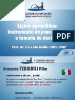 Armando Terribili Filho Lições Aprendidas Um Instrumento de Planejamento Para Tomada de Decisão