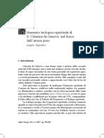 Itinerario teologico-spirituale di S. Caterina da Genova