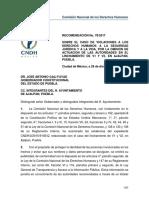 Recomendacion CNDH por linchamiento en Ajalpan