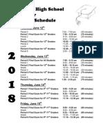 final exam schedule for june 2018