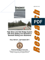 High Skew Link Slab Bridge System