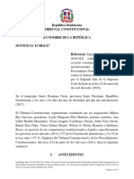 Sentencia del Tribunal Constitucional Dominicano-0811-17