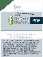 Convocatoria Practicas Profesionales 2018-1