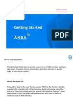 Getting Started ANSA