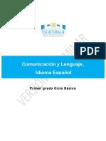 01 Comunicación y Lenguaje Idioma Español Primero Básico