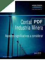 GES1506 - Contabilidad Minera - Aspectos a Considerar - Junio 2015