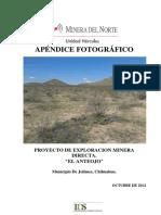 Apéndice Fotográfico Exploracion Minera Directa El Anteojo