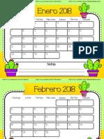 Calendario de Cactus