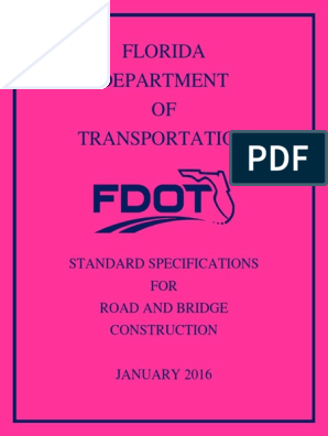 Florida Department OF Transportation: Standard