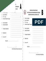 Formulir Pendaftaran Duta Seni