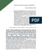 O trabalho e a condição humana alienação ou realização de possibilidades / Luiz Carlos Mariano da Rosa