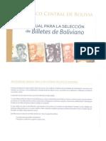 Manual para la selección de billetes