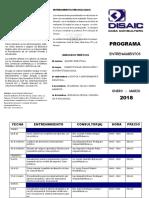Programa Entrenamientos Enero-marzo 2018