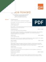 Grace Howard - 2018 Resume