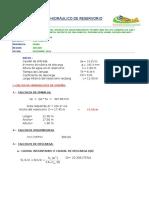 5.3 Calculo Hidraulico Reservorio