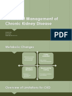 nutritional management of chronic kidney disease