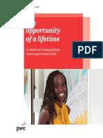 PwC Graduate Brochure 2016