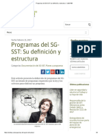 Programas Del SG-SST Su Definición y Estructura