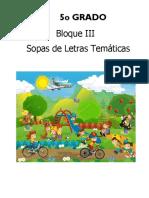SOPA DE LETRAS DEL BIMESTRE 3 PARA QUINTO GRADO