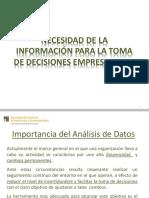 T1 Necesidad de la información para la toma de decisiones empresariales