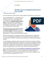 ConJur - Entrevista_ Manoel Pereira Calças, Novo Presidente Do TJ-SP