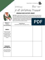 christmas carol - stave 3 - characterization chart - christmas present  pdf