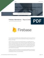 Firebase Alternatives