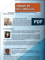 Hoja de Vida de Ponentes v Jornada Psicologia Educativa