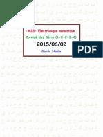-M33- TD Electronique Numérique-correction Des Série (1-2-2-3-4) { Prof.younès Raoui }2015